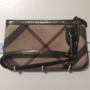 Burberry mini wristlet purse